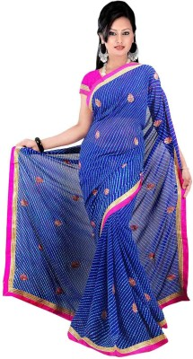 Chhaya Printed Bandhej Synthetic Sari