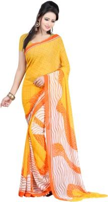 Fashiondeal Checkered Fashion Georgette Sari