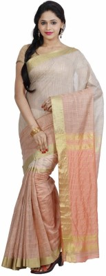 FastColors Striped Bollywood Silk Cotton Blend Sari
