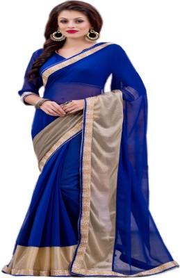 G Creation Embriodered Fashion Chiffon Sari