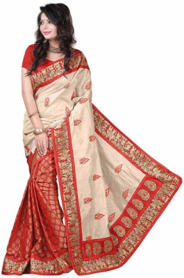CoreFestival Printed Fashion Synthetic Georgette Sari