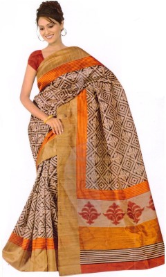 The Designer House Printed Mysore Art Silk Sari