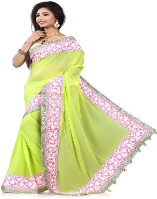 STYLO SAREES Embriodered Bollywood Polyester Sari
