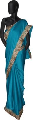 Serwans Plain Fashion Synthetic Sari