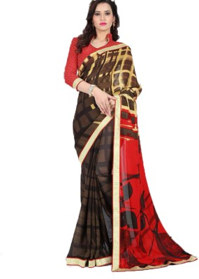 PP Unique Creations Printed Fashion Synthetic Sari