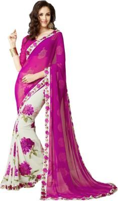 A1V Enterprise Printed Bollywood Pure Chiffon, Printed Silk Sari