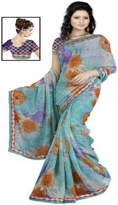 The Fancy Sarees Printed Fashion Georgette Sari
