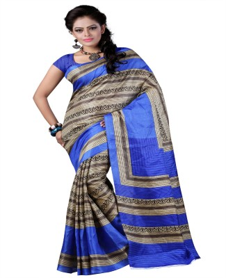 Harikrishna Trading Printed Fashion Poly Silk Sari