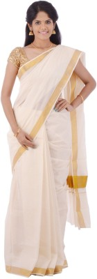 Creative Weaves Plain Chinnalapattu Cotton Sari