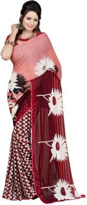 The Fancy Sarees Floral Print Fashion Georgette Sari