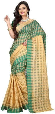 MCS. Checkered Bollywood Cotton Sari