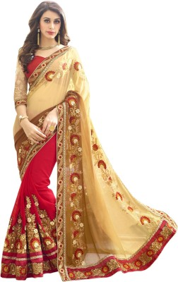 Matindra Enterprise Embriodered Fashion Georgette Sari