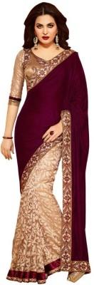 Fashionsurat Embriodered Fashion Velvet Sari