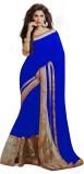 MA Solid Bollywood Georgette Sari
