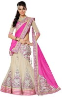 King Creation Chaniya, Ghagra Cholis - King Creation Embroidered Women's Lehenga, Choli and Dupatta Set(Stitched)