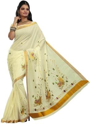 Jis Boutique Embriodered Fashion Handloom Cotton Sari