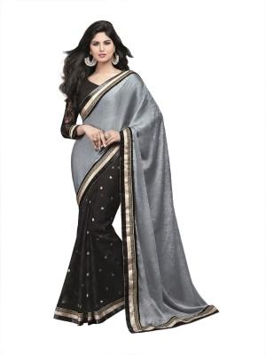 Fairy Fashions Self Design Bollywood Satin Sari