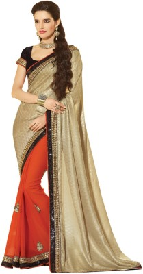 Kimana Self Design Fashion Georgette Sari