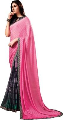 Stay Blessed Printed Fashion Crepe, Jacquard, Georgette Sari