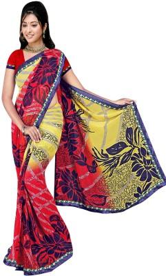 Janya Self Design Sungudi Georgette Sari
