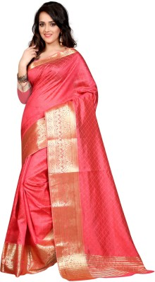 Styles Closet Printed Daily Wear Tussar Silk Sari