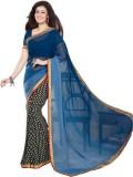 FashionFiza Printed Fashion Georgette Sa...