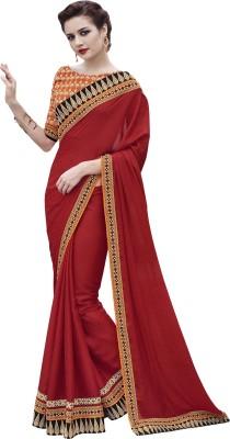 Fabliva Embriodered, Self Design Bollywood Jacquard Sari