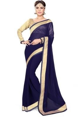 Mirchi Fashion Plain Fashion Georgette Sari