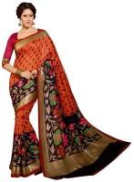 Best Collection Printed Bhagalpuri Pure Silk Sari(Multicolor)