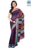 Tantuja Striped Tangail Handloom Silk Sa...