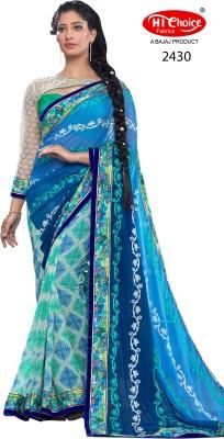 Hi-Choice Graphic Print Fashion Georgette Sari
