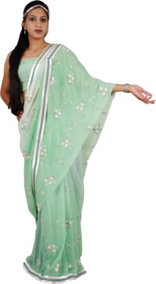 Shree Ji Solid Daily Wear Pure Georgette Sari