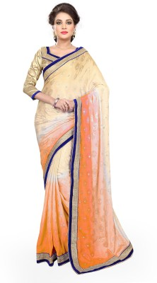 Mirchi Fashion Plain Fashion Jacquard Sari