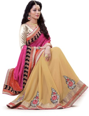 Laajjo Embriodered Fashion Georgette, Chiffon Sari