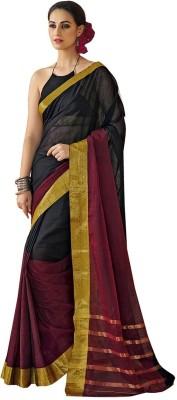 Vivian Plain Fashion Cotton Sari