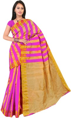 Jhalak Striped Bollywood Art Silk, Banarasi Silk, Cotton, Silk Sari