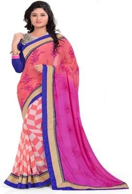 Khodiyar Creation Printed Fashion Georgette Sari