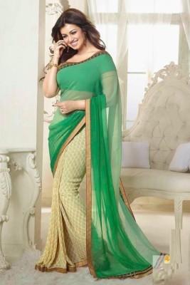 FabDesire Floral Print Bollywood Georgette Sari