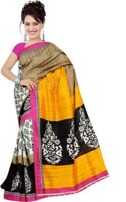 Goyal Silk Mills Printed Bhagalpuri Art Silk Sari