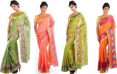 Ankisha Solid Fashion Cotton Sari
