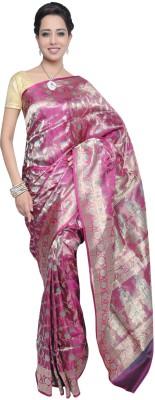 Ujala Silk Floral Print Banarasi Silk Sari