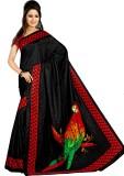 Saran Graphic Print Fashion Art Silk Sar...
