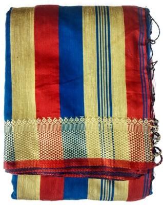 DEVI COLLECTION Woven Assam Silk Cotton Slub Sari