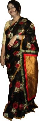 Kalika Self Design Fashion Crepe Sari