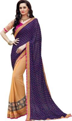 Avasarfashion Digital Prints Bandhani Chiffon Sari