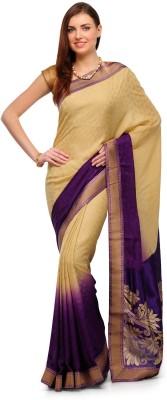 Aadhuni Self Design Fashion Crepe Saree(Multicolor) at flipkart