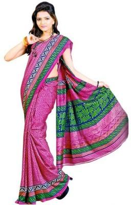AJS Chevron, Geometric Print Fashion Art Silk Sari