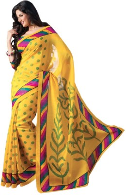 Frocksme Solid Bollywood Art Silk Sari