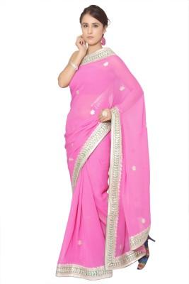 Vibhuti Sarees Self Design Fashion Georgette Sari