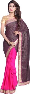 Hanis Solid Fashion Handloom Chiffon, Banarasi Silk Sari